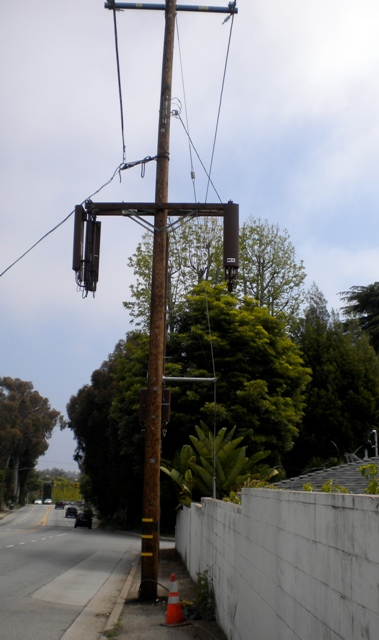Cell Site Hanging Over Yard