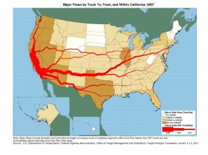 U.S. Truck Traffic Flows 2007 - Source: USDOG
