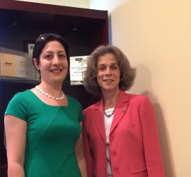 Amalya Yeghoyan and Elise Kalfayan at IIG offices June 5, 2015.